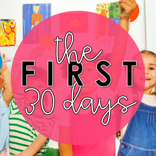 First 30 Days of Kindergarten
