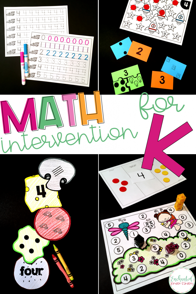 Create quick and easy math intervention plans with this low prep math intervention set. Counting objects, number recognition, cardinality, number sense and more is a huge focus in kindergarten with new counters. Have your math small group toolbox all ready and prepped with minimal effort.