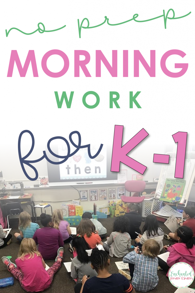 If you hate making copies every week for morning work, STOP. No prep morning work is the way to go. These PowerPoints are the answers to children coming to school at different periods. You don't have to waste away paper anymore. Your students will be able to review addition, subtraction, sight words, beginning sounds, medial sounds, contractions, number sense and more! So many skills can be used each week with the See it Write it PowerPoints. #morningwork #noprep