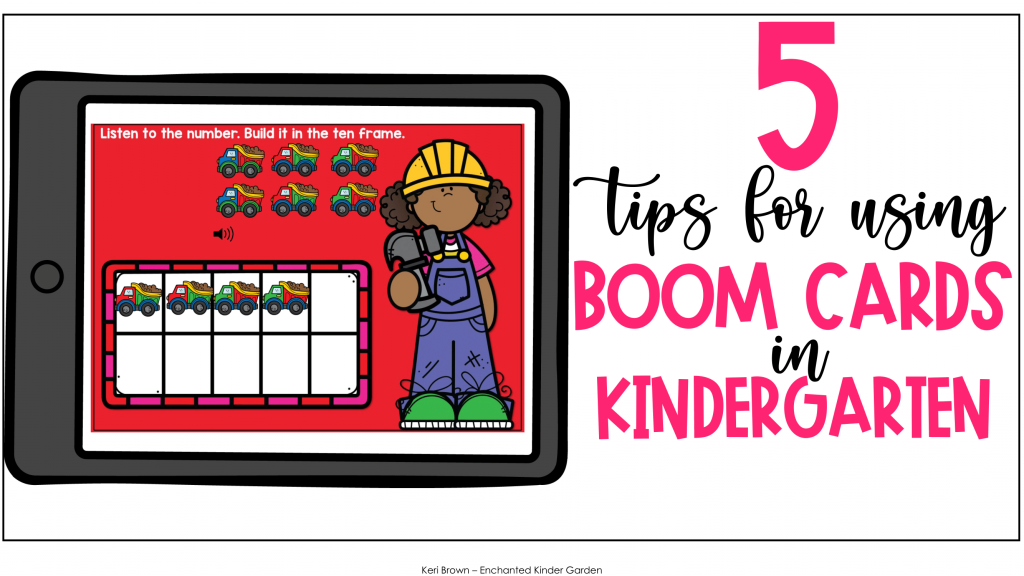 How to Use Boom Cards in Kindergarten